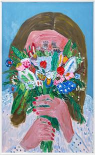 Georgina Gratrix | An Offering | 2019 | Oil on Canvas | 190 x 120 x 6 cm