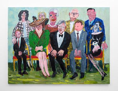 Georgina Gratrix | The Appraisers | 2018 | Oil on Canvas | 190 x 251 cm
