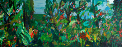 Georgina Gratrix | Jungle | 2012 | Oil on Board | 180 x 508 cm