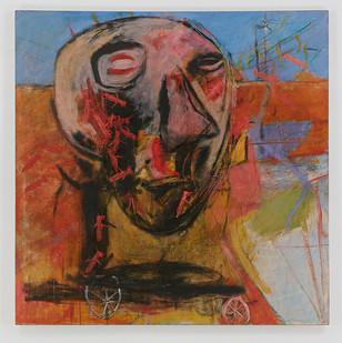 Albert Adams | Celebration Head | 1996 | Oil on Canvas | 153 x 153 cm
