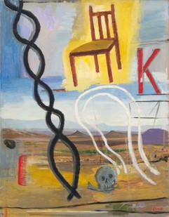 Simon Stone   Sky Chair   2014   Oil on Board   100 x 78 cm