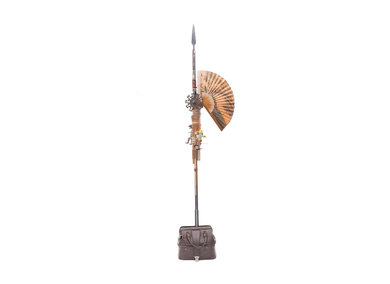 Masimba Hwati | Antenna I | 2017 | Mixed Media | 240 x 23 x 40 cm