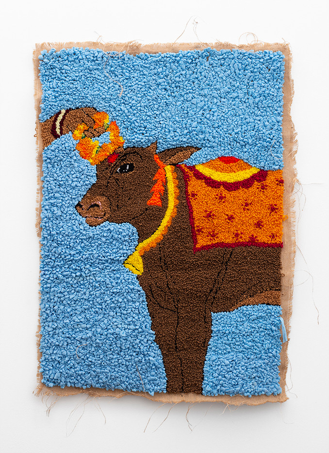 "Talia Ramkilawan | ""The cows have come and have brought us good fortune. In our stalls, contented, may they stay!"" (Diptych) 