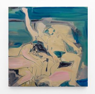 Kate Gottgens | Group Hug | 2018 | Oil on Canvas | 75 x 75 cm