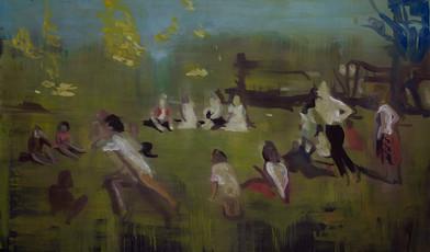 Kate Gottgens | Oh, Green World | 2015 | Oil on Canvas | 130 x 220 cm