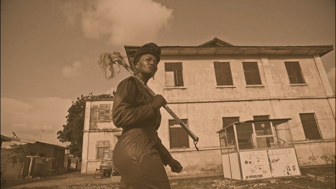 Lhola Amira | Looking for Ghana & The Red Suitcase (Film Still) | 2017 | Sepia Video & Stereo Audio | 00:11:04 | Edition of 3 + 2 AP