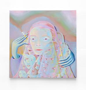 Marlene Steyn   the smoke show stopper   2020   Acrylic on Canvas Board   40 x 40 cm