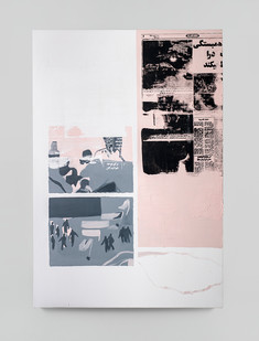 Sepideh Mehraban | Floating | 2021 | Mixed Media on Canvas | 110 x 75 cm