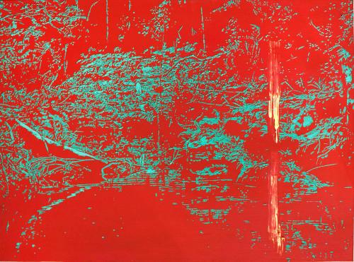 Peter Eastman | Deep Chine I | 2014 | Oil on Aluminium | 45 x 60 cm