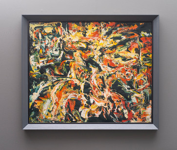 Walter Battiss | 1958 -1960 | Oil on Canvas | 73.5 x 88.5 cm