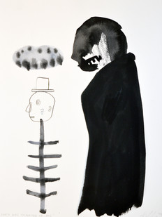 Karlien De Villiers | Death was Thinking of Me | 2014 | Ink and Watercolour on Paper | 41 x 31 cm