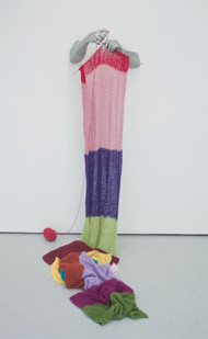 Barend de Wet | Knitting | 2013 | Aluminium, Stainless Steel and 100% Acrylic Wool | Dimensions Variable