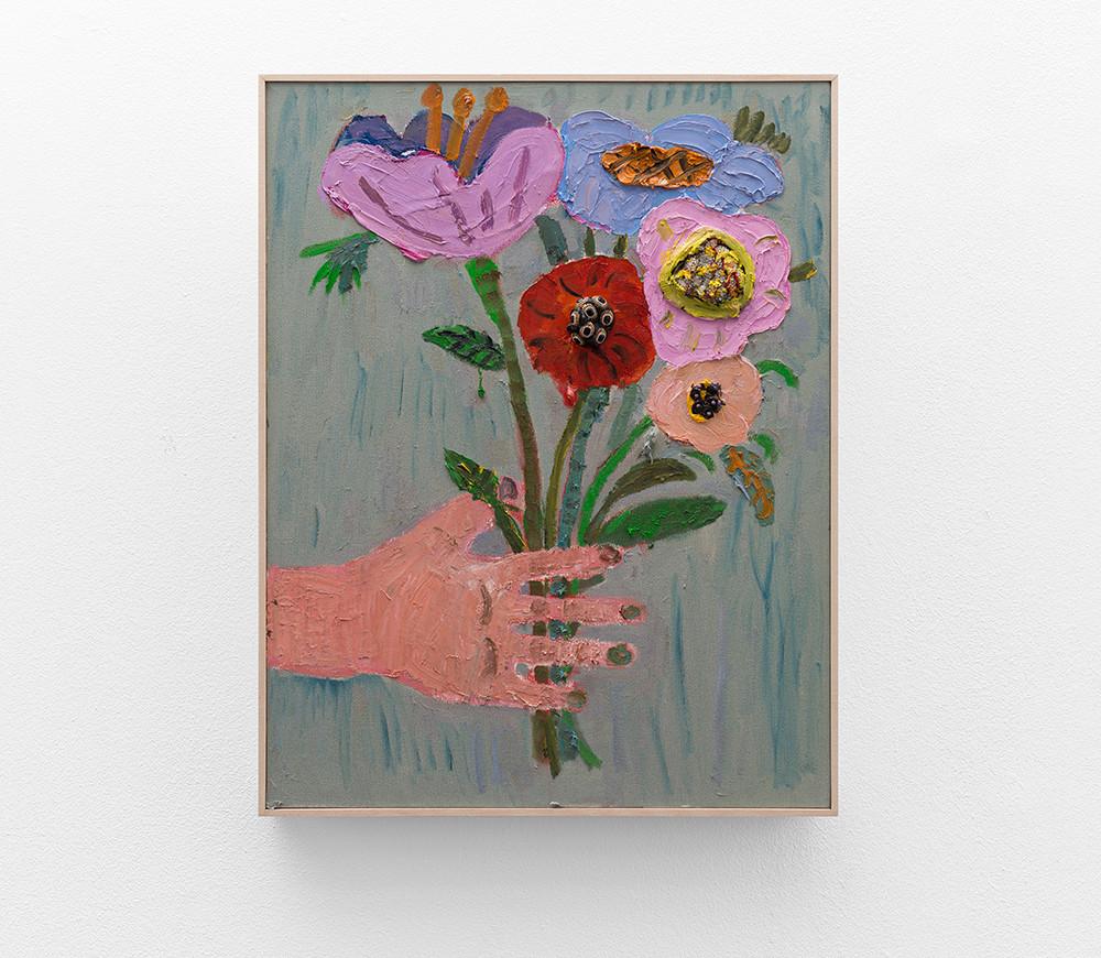 Georgina Gratrix | New Flowers 1 | 2017 | Oil on Canvas | 70 x 50 cm