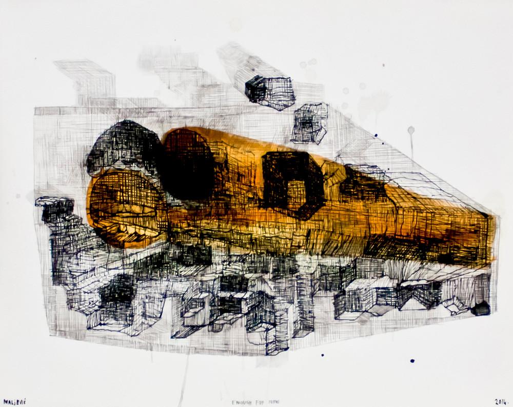 Maja Maljevic | Enough for Now | 2014 | Mixed Media on Paper | 35 x 43 cm