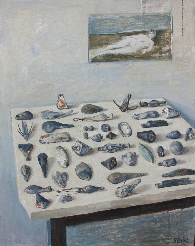Simon Stone   Still Life with Sinkers   2013   Oil on Canvas   70 x 56 cm