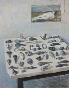 Simon Stone | Still Life with Sinkers | 2013 | Oil on Canvas | 70 x 56 cm
