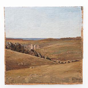 Simon Stone | Near Ronostervalley | 2019 | Oil on Cardboard | 30 x 30 cm
