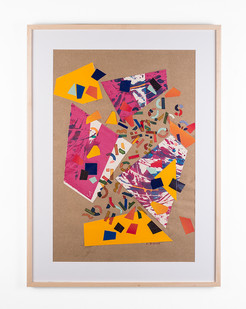 Lionel Davis | Scattered Patches I | c. 2000 | Collage and Mixed Media on Paper | 59.5 x 40 cm