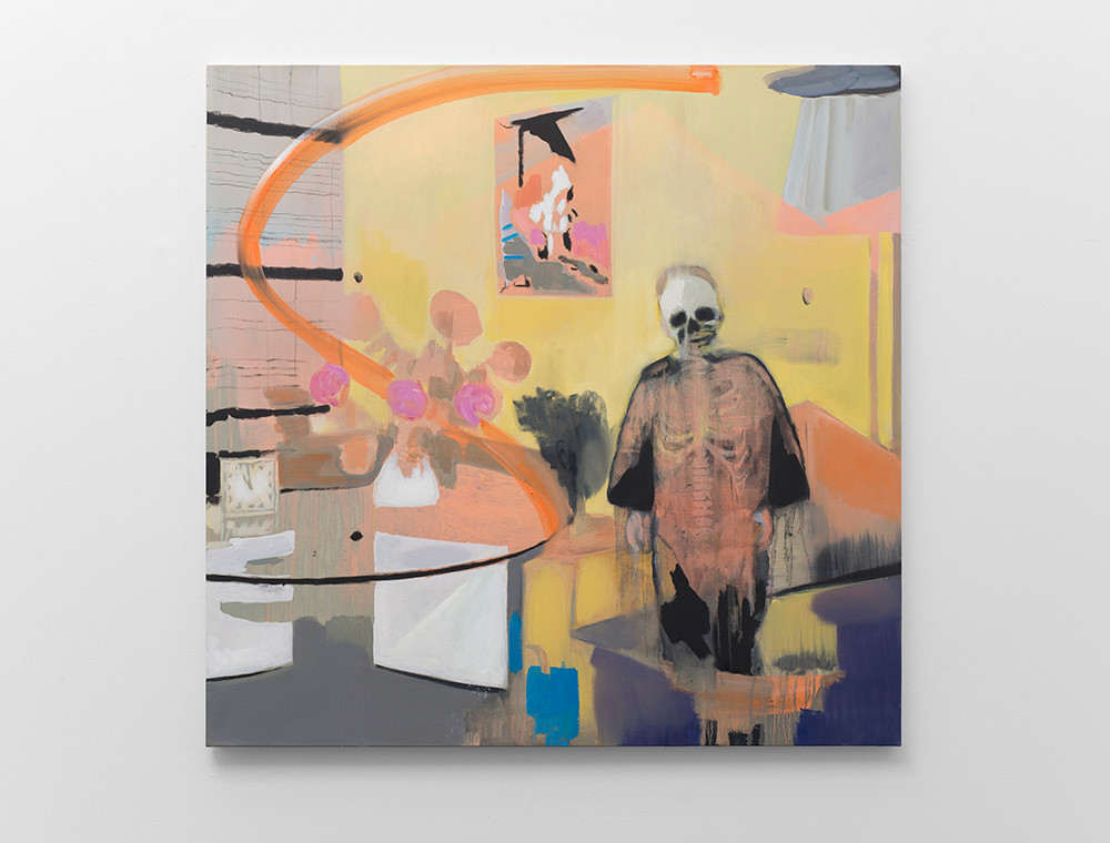Kate Gottgens | Interior-Lost Soul | 2017 | Oil on Canvas | 150 x 150 cm