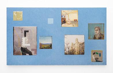 Simon Stone | Blue Opera | 2018 | Oil on Canvas | 106 x 184 cm