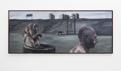 Johann Louw | Lang Paneel met Galgstruktuur | 2017 | Oil on Panel | 98 x 244 cm