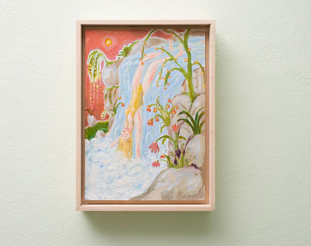 Marlene Steyn | Water can fall in love too | 2018 | Oil on Canvas | 30 x 21 cm