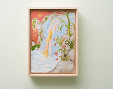 Marlene Steyn   Water can fall in love too   2018   Oil on Canvas   30 x 21 cm