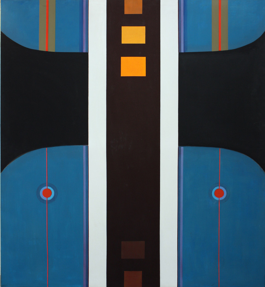 Hannatjie van der Wat | High Way | 1969 | Acrylic on Canvas | 173 x 152 cm