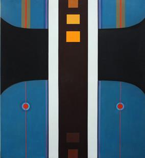 Hannatjie van der Wat | High Way | 1969 | Acrylic on Canvas | 173 x 152 cm