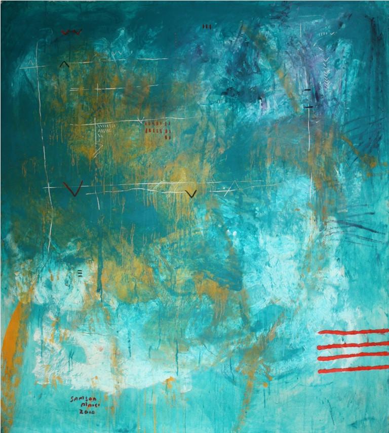 Samson Mnisi | Untitled | 2010 | Oil on Canvas | 163 x 140 cm