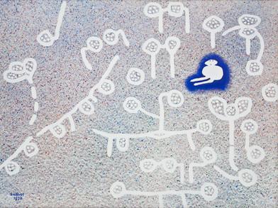 Water Battiss   Untitled   1972   Oil on Paper   35 x 48.5 cm