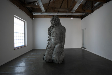 Ledelle Moe | Study for Remain | 2018 | Concrete and Steel | 270 x 190 x 120 cm