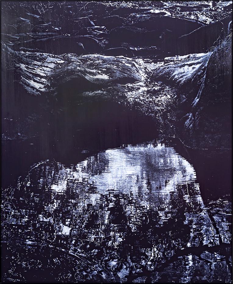Peter Eastman   Coldstream Pool   2019   Oil on Aluminium   185 x 150 cm