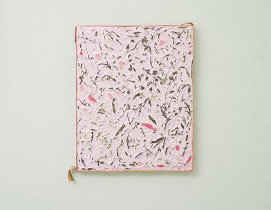 Gabrielle Kruger   Pressed Posy   2018   Acrylic on Board   50.5 x 40.5 cm