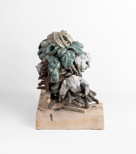 Jeanne Hoffman | Shipwrecked Cargoes 1 | 2020 | Stoneware and Porcelain | 30 x 23 x 24 cm