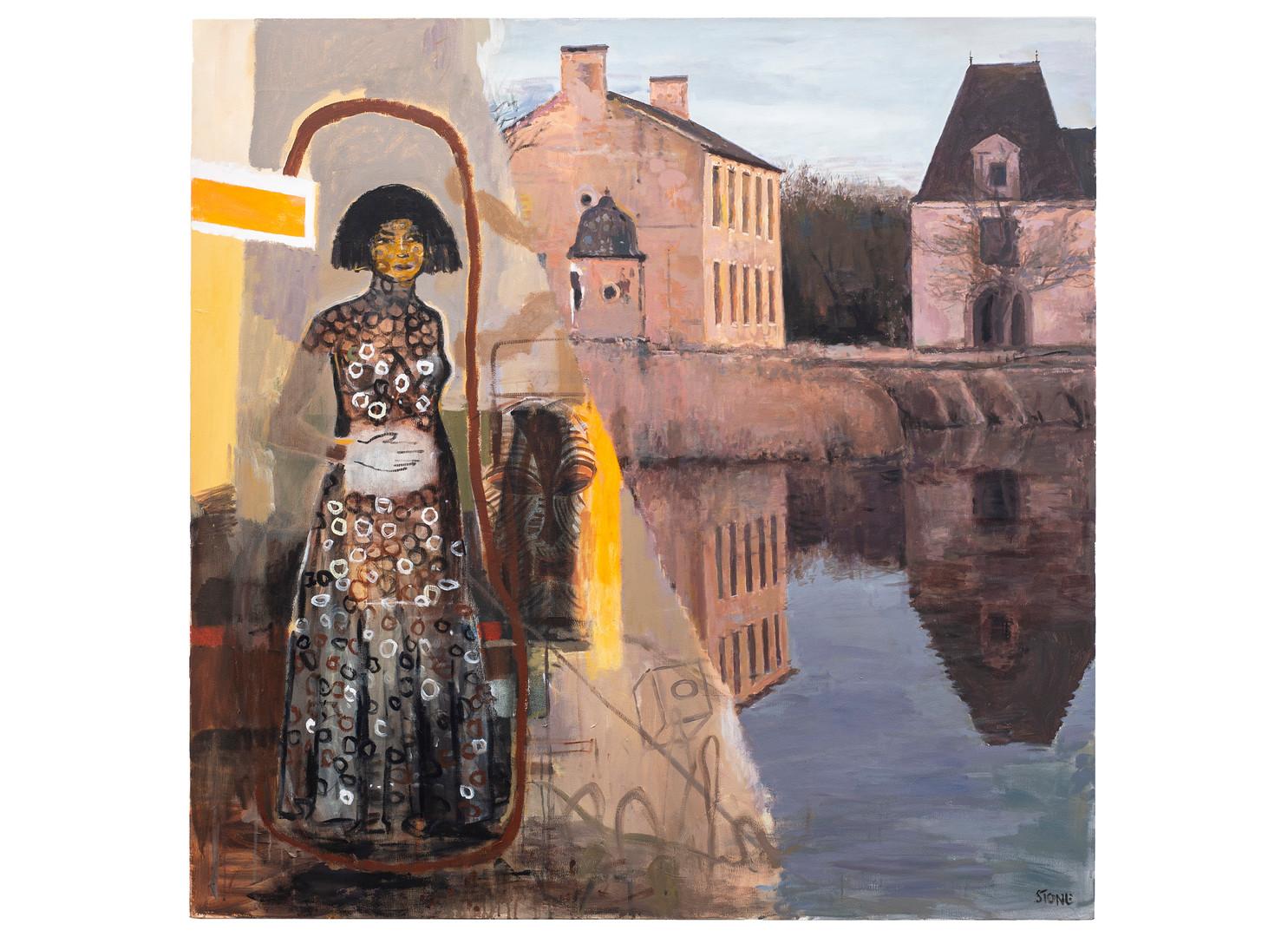 Simon Stone | Farm House | 2020 | Acrylic on Canvas | 160 x 160 cm