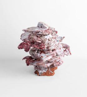 Jeanne Hoffman | Calypso | 2020 | Terra-cotta and Porcelain | 27 x 28 x 23 cm