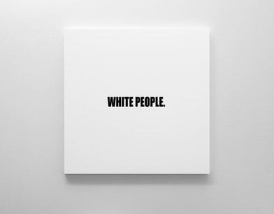Ed Young | WHITE PEOPLE. | 2018 | Oil on Canvas | 100 x 100 cm