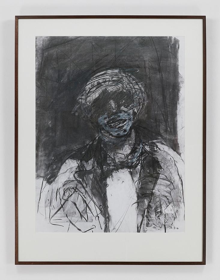 Albert Adams | Portrait of a Man (Celebration Series) | 2001 | Charcoal, Wash on Paper | 122 x 93 cm