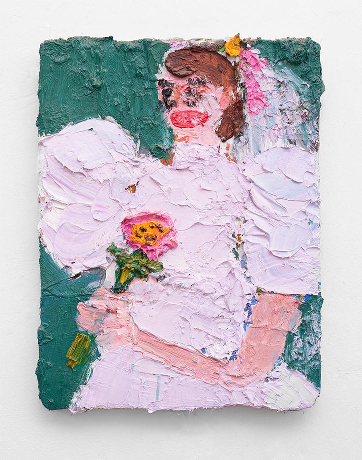 Georgina Gratrix | Bride of Chucky | 2017 | Oil on Canvas | 40 x 30 cm