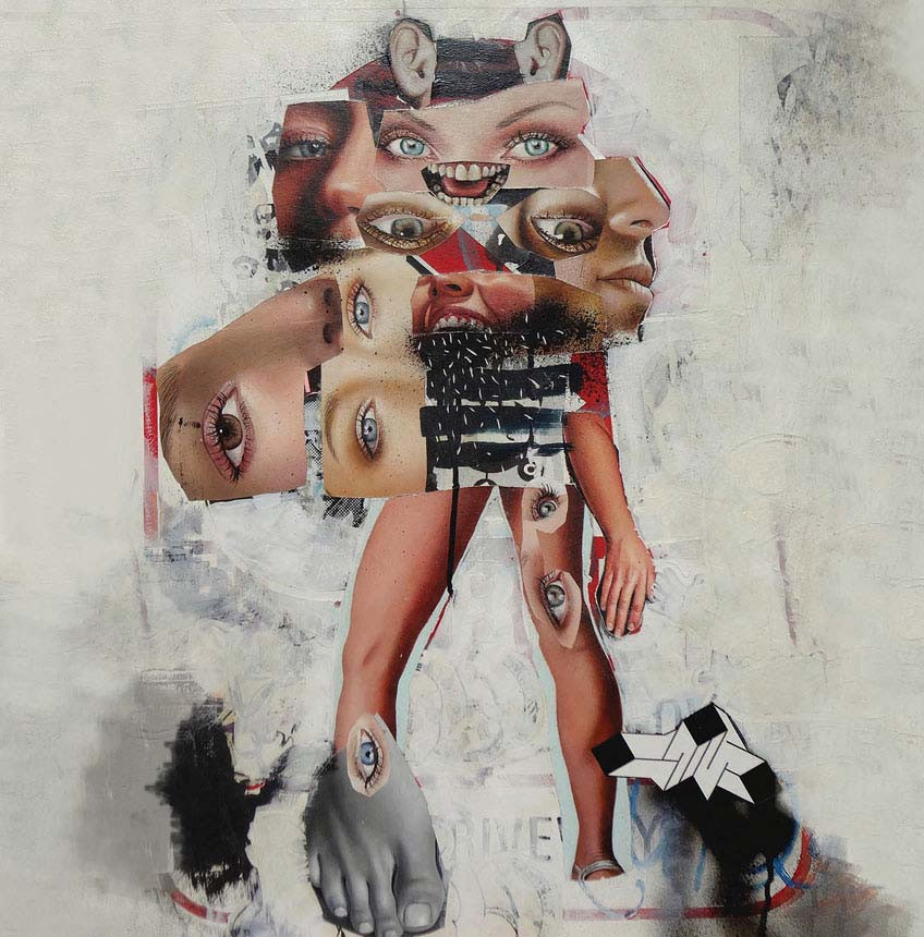 Asha Zero | /W | 2014 | Acrylic on Board | 60 x 45 cm