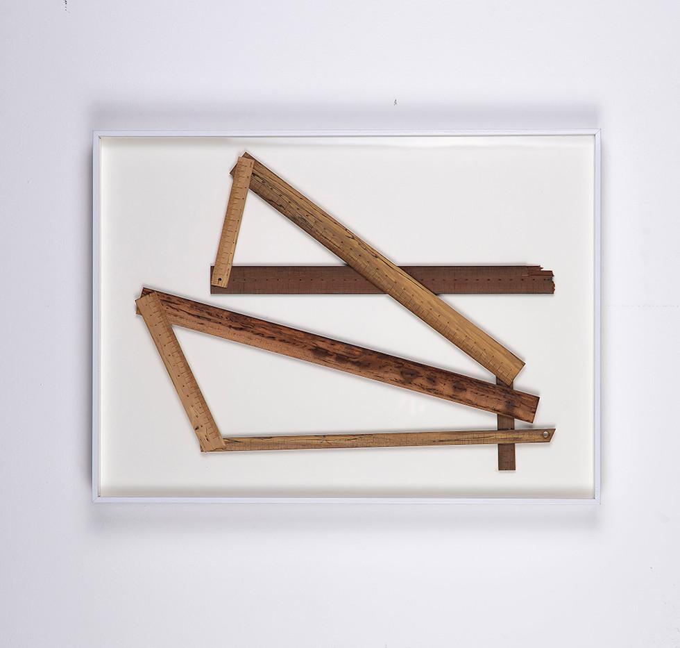 Ruann Coleman   Certain Lengths   2017   Wild Pear, Satern, Kiaat, Zebrano and Walnut Wood   34 x 46.5 cm