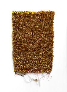 Wallen Mapondera | Kubvunura I | 2017 | Cardboard Stitched on Canvas | 138 x 90 cm