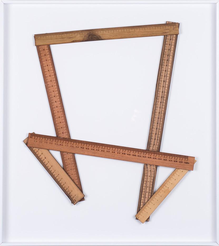 Ruann Coleman   Certain Lengths III   2017   Zibrano, Walnut and Wild Pear Wood   46 x 42 cm