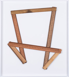 Ruann Coleman | Certain Lengths III | 2017 | Zibrano, Walnut and Wild Pear Wood | 46 x 42 cm