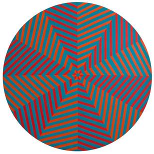 Trevor Coleman   Optical   1972   Acrylic on Board   114.5 cm Diameter