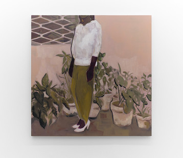 Kate Gottgens   Court Shoes   2017   Oil on Canvas   95 x 95 cm