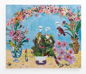 Georgina Gratrix | The Engagement Party | 2018 | Oil on Canvas | 160 x 190 cm