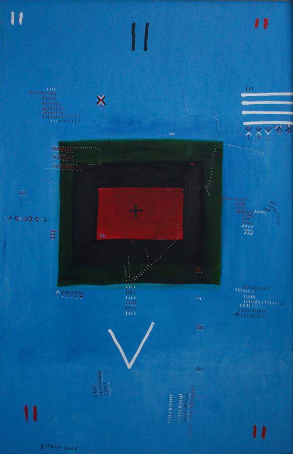 Samson Mnisi   Untitled   2006   Oil on Canvas   197 x 140 cm