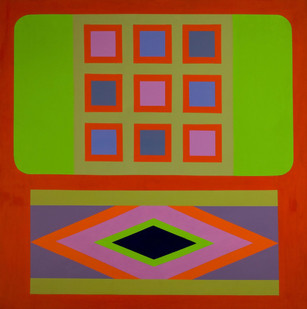Trevor Coleman | Nine Part Square | 1968 | Acrylic on Canvas | 122.5 x 122 cm